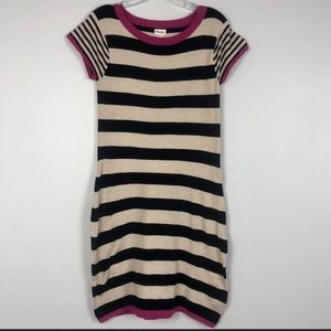 Hatley Striped Sweater Dress Small